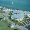 Aerial view of the clubhouse at Isla Del Sol Golf Yacht & Country Club