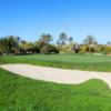 A view of a green protected by bunkers at Djerba Golf Club