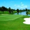 A view of a green with water coming into play at Bo Chang Dong Nai Golf Resort