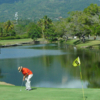 A view of the 9th hole at Playa Dorada Golf Course