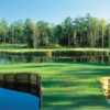 A view of the island green at World Tour Golf Links