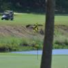 A view of a green with water coming into play at Hills of Lakeway Country Club