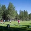 A view of the driving range tees at Angel Fire Resort Country Club