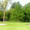 A view of the 1st green at Princess Wilhelmina Golf Club