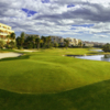 A view of the 18th hole at Alicante Golf Club
