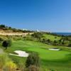 A view of the 2nd green at Finca Cortesin Golf Club