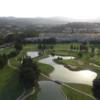 Aerial view from Los Olivos at Mijas Golf Club