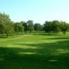 A view of the 15th hole at Lincoln Oaks Golf Course