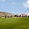 A view of the clubhouse and the practice area at El Valle Golf Resort
