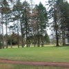 A view of green #8 flanked by bunkers at Auchterarder Golf Club