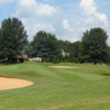 A view of hole #12 with water coming into play from the right side at Willow Creek Golf Course