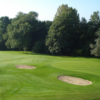 A view of a green protected by bunkers at GCC Oudenaarde