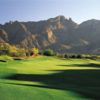 A view of a fairway with mountains in the distance from Canyon at La Paloma Country Club
