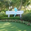 A view of the Hideaway Beach Golf Course sign