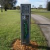 A view of the 18th tee sign at Championship Course from Links At Boynton Beach
