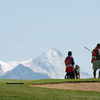 A view from Severiano Ballesteros Course at Crans-sur-Sierre Golf Club