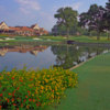A view of the clubhouse at Atlanta Athletic Club