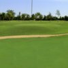 A view of the 1st green at Pecan Trails Golf Course
