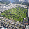Aerial view of Lake Merced Golf & Country Club