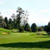 A view of the 5th hole flanked by sand traps at Shenandoah Valley Golf Club