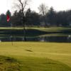 A view of a green with water coming into play at Ca della Nave Golf Club
