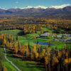 A fall view from Anchorage Golf Course