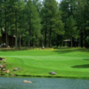 A view over the water from Canyon at Forest Highlands Golf Club