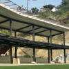 A view of the driving range tees at Monterey Park Golf Course
