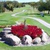 A view of a tee at Wolf Run Golf Club