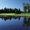 A view over the water of fairway #12 at Serradella Course from Lakewood Shores Resort