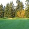 A sunny day view from a fairway at Chehalem Glenn Golf Club