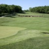 A view of a green and a fairway at Canyon Farms Golf Club