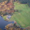 Aerial view of the Aboyne Loch Golf Centre