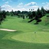 A view of the 12th green, the only one with a blind tee shot at Yorba Linda Country Club