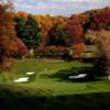 A view of green #14 protected by tricky bunkers at Washington Golf & Country Club