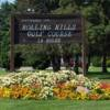 A view of the entrance area at Rolling Hills Golf Course