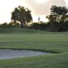 A sunset view of hole #8 at Queen from Cape Royal Golf Club