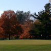 A view of a green at A. H. Blank Golf Course