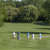 A view of a tee at Willow Creek Golf Course