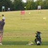 A view of the driving range tees at Toad Valley Golf Course