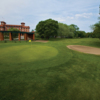 A view of a green protected by bunkers at Jackson Park Golf Club