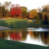 A view over the water of a green at Village Links of Glen Ellyn