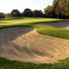 A view of a green protected by tricky sand traps at Village Links of Glen Ellyn
