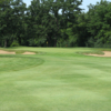 A view of the 16th green flanked by bunkers at Briarwood Country Club (McGolfDesign)