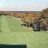 A view of green #9 at Sandwich Hollows Golf Club