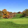 A view of an undulating green at Highlands Golf Club from Fisher Mountain