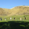 A view of the driving range tees at Lost Canyons Golf Club