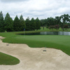 A view of a green with water coming into play at Baton Rouge Country Club (Rees Jones Design)