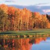 A fall view over the water from Nonesuch River Golf Club