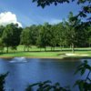 A view of the 16th tee at Pine Lake Country Club
